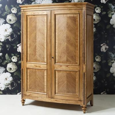 Spire Vintage Walnut Wooden Two Door Wardrobe image 2
