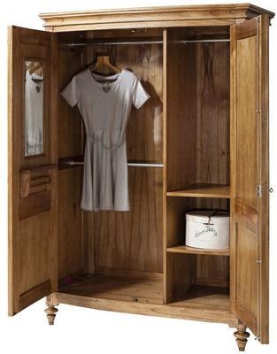 Spire Vintage Walnut Wooden Two Door Wardrobe image 3