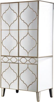 Moroccan Mirrored Armoire Wardrobe
