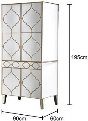 Moroccan Mirrored Armoire Wardrobe image 2