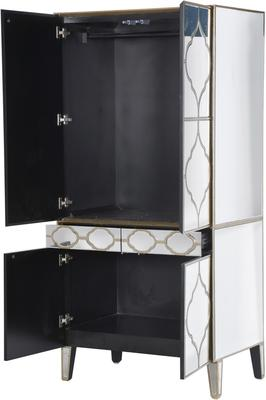 Moroccan Mirrored Armoire Wardrobe image 3
