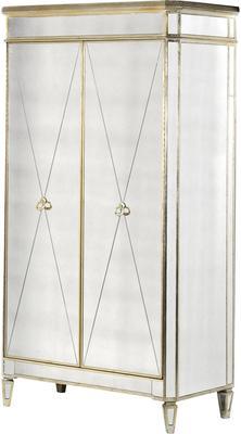 Venetian Antique Mirrored Wardrobe