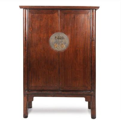Mid Sized Walnut Armoire, Chinese Antique image 2