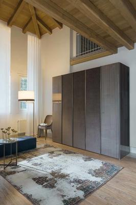 Elysee 5 door (wood and fabric) wardrobe