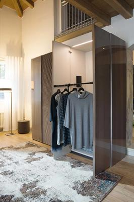 Elysee 5 door (wood and fabric) wardrobe image 3
