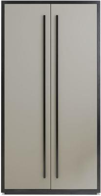 Roux Wardrobe Taupe Leather Look and Wood Frame image 2