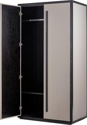 Roux Wardrobe Taupe Leather Look and Wood Frame image 5