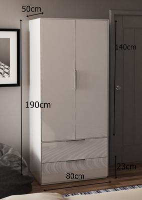 Smart Pure White Gloss Wardrobe image 3