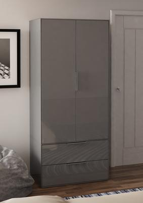Smart Pure Grey Gloss Wardrobe