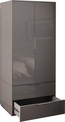 Smart Pure Grey Gloss Wardrobe image 5