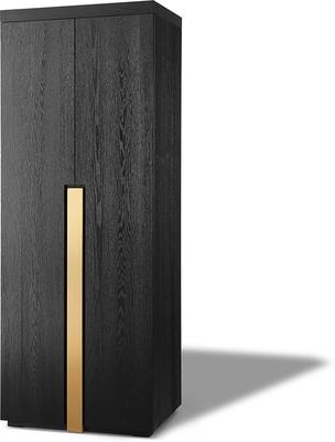 Parma Art Deco Wardrobe Wenge with Brass Handles