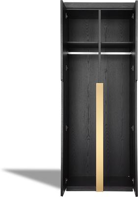 Parma Art Deco Wardrobe Wenge with Brass Handles image 3