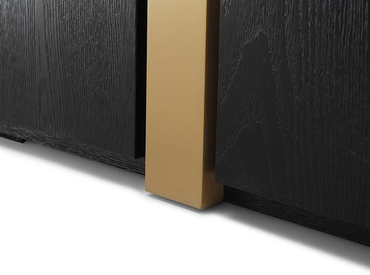 Parma Art Deco Wardrobe Wenge with Brass Handles image 6