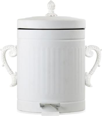 Seletti White Metal Litter Bin