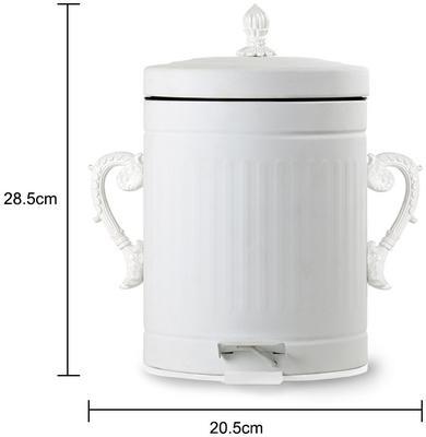 White Metal Litter Bin image 2