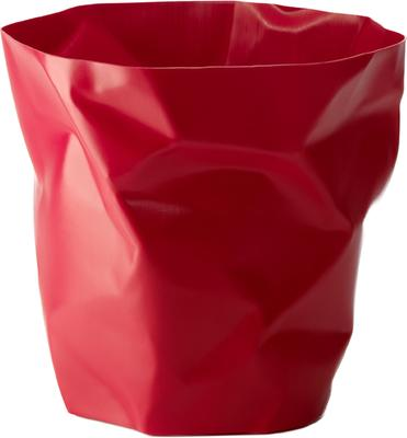 Crumpled Bin Red
