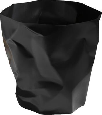 Crumpled Bin Black