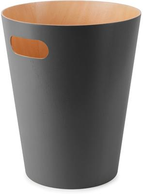Umbra Woodrow Waste Bin - Charcoal