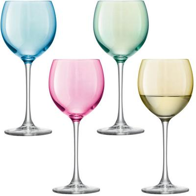 LSA 4 x  Polka Wine Glasses