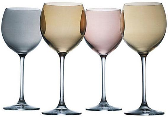 LSA Set of 4  Polka Wine Glasses - Metallic image 2