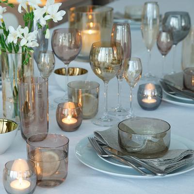 LSA Set of 4  Polka Wine Glasses - Metallic image 3