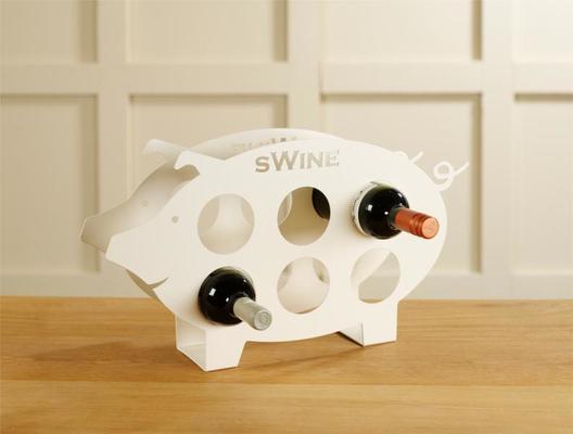 Swine Metal Wine Rack - Ivory