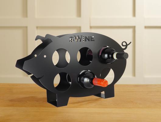 Swine Metal Wine Rack - Black