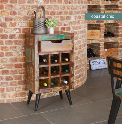 Coastal Chic Wine Rack Reclaimed Timber