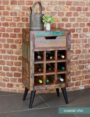 Coastal Chic Wine Rack Reclaimed Timber image 2