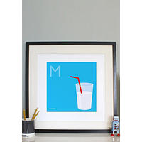 'M' is for Milk - Graphical Art Print.  Full Fat!