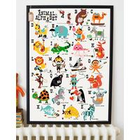 Animal Alphabet Children's Nursery Print
