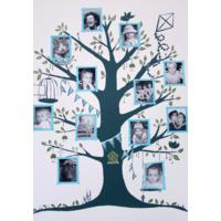 Family Tree print - Pink