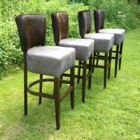 'You Choose the Cowhide and Leather' Large Dorchester Bar Stool