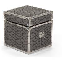 Burton Upholstered Storage Box, Patterned Grebe Grey from made.com