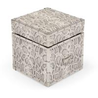 Burton Upholstered Storage Box, Snakeskin Grey from made.com