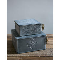Zinc Storage Box from Rose & Grey
