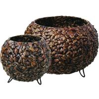 Baskets Round - Set of Two - Water Hyacinth
