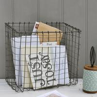Wire Post Basket (Grey Zinc)
