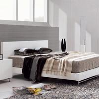 Barcelona White King Size Bed
