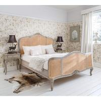 Normandy Rattan Painted Luxury French Bed
