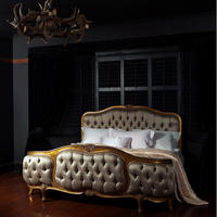 Versailles Curved Luxury Upholstered Bed