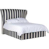 Valentina Black & Cream Striped Bed