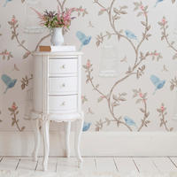 Provencal Round White Bedside Table