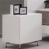 Barcelona White Bedside Table