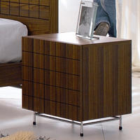 Barcelona Walnut Bedside Table