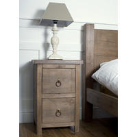 Rustic Two Drawer Bedside