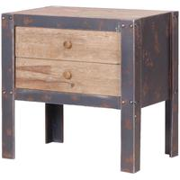 Industrial Two Drawer Bedside