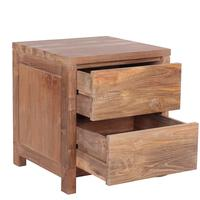 The 'Praya' Reclaimed Teak Wood Bedside Table