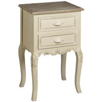 Brittany 2 Drawer Bedside Table - Cream