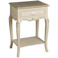 Brittany Bedside Table - Cream